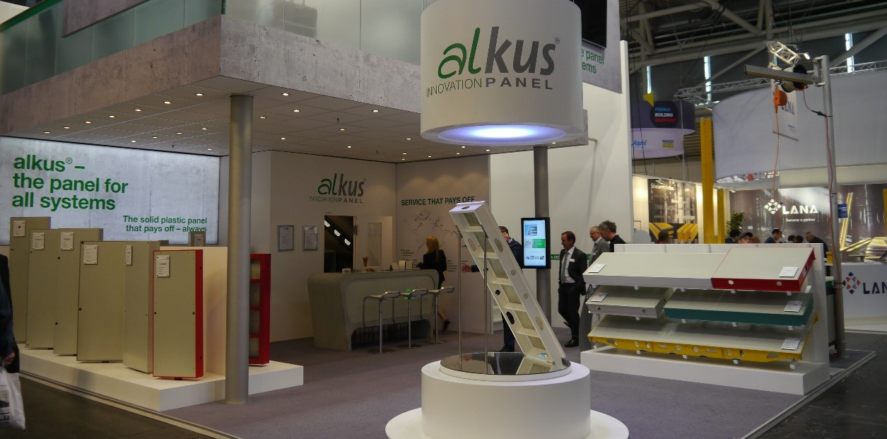 The alkus AG stand at bauma 2016. © alkus AG